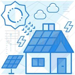 太阳能房图标
