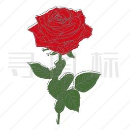 玫瑰花图标 9个玫瑰花图标icon图标批量下载 Png Eps Psd Ico Svg格式 寻图标