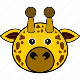 长颈鹿头像图标