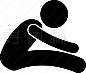 腰部伸展图标