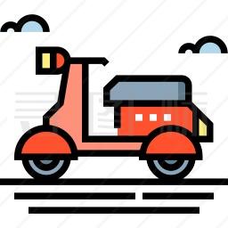 小型摩托车图标