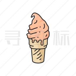 甜筒冰淇淋图标