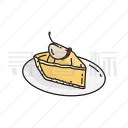 苹果蛋糕图标