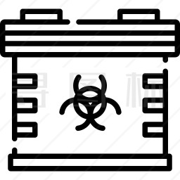 生物医学废物图标