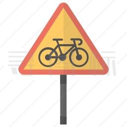 自行车车道标志图标
