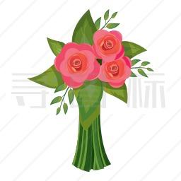 玫瑰花束图标 有svg Png Eps格式 寻图标