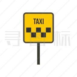 出租车标志牌图标