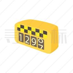 出租车跳表图标