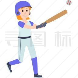 击球的女孩图标