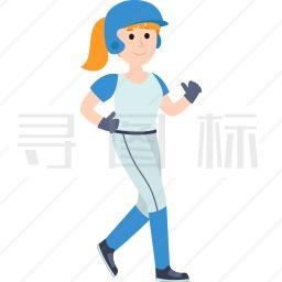 跑步的女孩图标