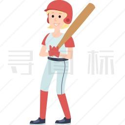 拿着球棒的女孩图标