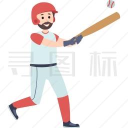 击球的男人图标