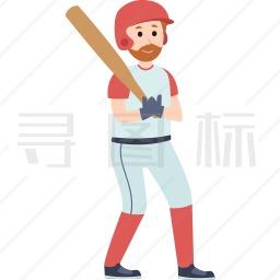 棒球运动员图标
