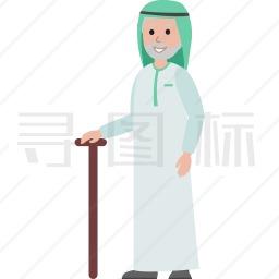 穆斯林老人图标