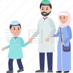 穆斯林家庭图标
