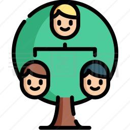 家庭树图标