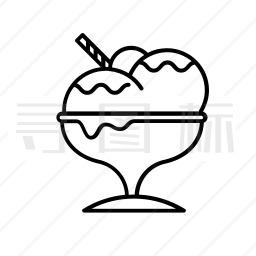 冰淇淋球图标