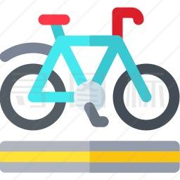 自行车车道图标