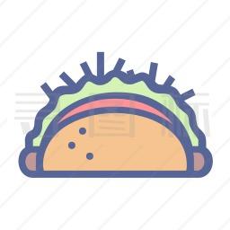 墨西哥玉米薄饼卷图标