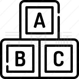 abc块图标