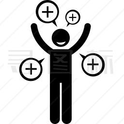 开心的人图标12个icon批量下载 有svg Png Eps 矢量图格式 寻图标