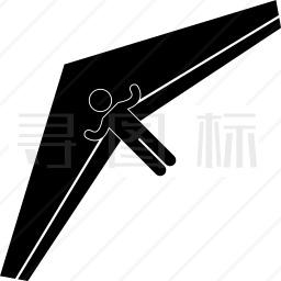 滑翔男人滑翔机图标