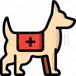 救援犬图标