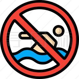 禁止游泳图标