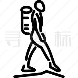 徒步旅行图标