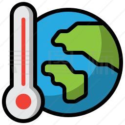 全球变暖图标