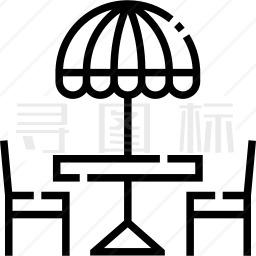 太阳伞图标