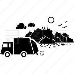 垃圾污染图标