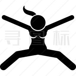 跳跃女人图标
