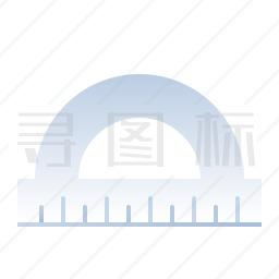 量角器图标