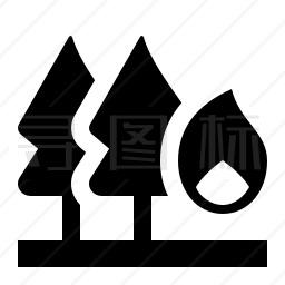 森林火灾图标