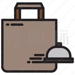 食品配送包装袋图标