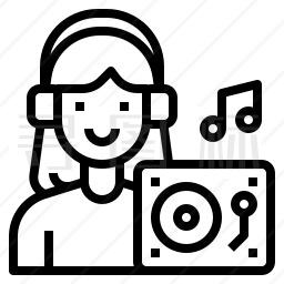 电台的音乐节目主持人图标 有svg Png Eps格式 寻图标