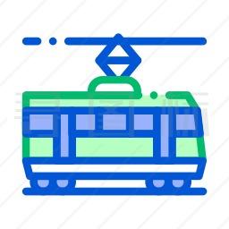 有轨电车图标