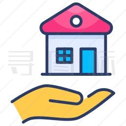 房子保险图标