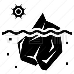 冰山融化图标