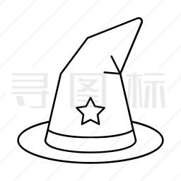 女巫帽子图标