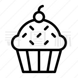 纸杯蛋糕图标