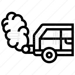 汽车尾气图标