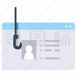 网络盗窃图标