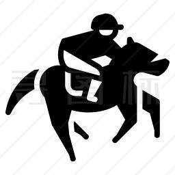 骑马的人图标