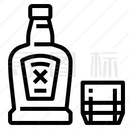 威士忌酒图标