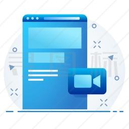 网页视频图标