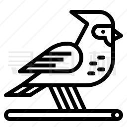 红衣凤头鸟图标