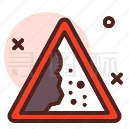 落石标志图标