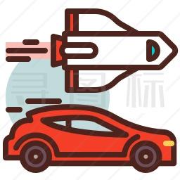 汽车火箭图标